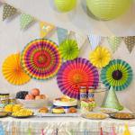 Best Multicolor Paper Flower Fan Suit Inside Or Outside Door Decorations wholesale