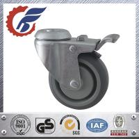 Best 100 mm TPR noiseless wheel hollow kingpin swivel caster in medical furniture wholesale