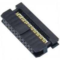 Best WCON 2.54mm 2*10P IDC Socket Connector Terminal One Side Contact  PBT Black wholesale