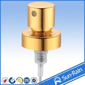 Best Gold shiny aluminium Perfume Pump Sprayer , plastic spray pump wholesale