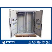 Best Dual Bay IP55 Telecom Equipment Cabinete , Outdoor Power Enclosure With PDU Monitor wholesale