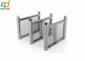 China ID Card Reader  Full Automatic Supermarket Swing Gate Turnstile System on sale