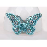 Best Blue Color Costume Jewelry Jewelry Pins & Brooches , Diamond Butterfly Pins And Brooches wholesale