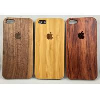 Best Real Nature wood Case for iPhone 5 5S 6 6s 6Plus 7 Walnut Bamboo rosewood wholesale
