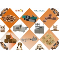 China 1000kg/hr 70kw Dog Chews Extruding Machine For Making Kibbles on sale
