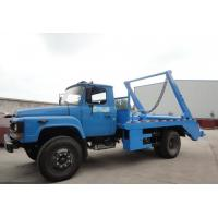 China Dongfeng 140 long nose 6cbm swing arm garbage carrier,  best price yuchai 140hp skid loader garbage truck for sale on sale