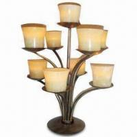 Best Metal T-light Candle Holder with Eight Marble Cups, Measures 11 x 11 x 14 to 1/2-inch wholesale