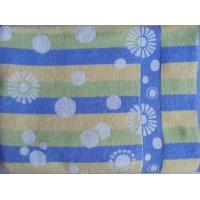 100% cotton terry towel blanket with high quality