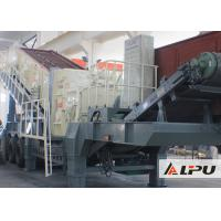 Best Portable Combined Mobile Stone Crusher Plant With Double - Axle Tyre wholesale