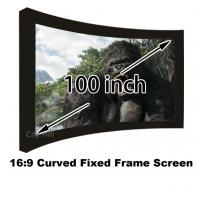 Best Quality Assurance Cinema Projector Screens 100 Inch DIY Curved Fixed Frame Wall Mounted wholesale