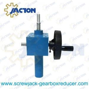 China hand crank worm gear box, hand crank actuator, hand worm thread lifters on sale