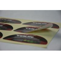 China Golf Waterproof Vinyl Label Stickers Strong Glue For Brand Protection on sale