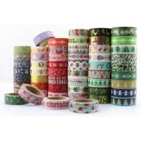 Best Masking Paper Scotch Tape Label Roll Halloween Christmas Festival Design wholesale