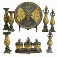 Best Polyresin Crafts, Including Candle Holders, Plates, Boxes, Finials with Leopard Design  wholesale