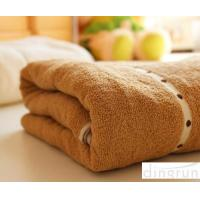 Best Thickening / Widened Pure Cotton Bath Towels Brown Colors Various Designs wholesale