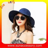 Best AK17593 fashion sunny beach foldable summer straw hats for womens in stock , promotion cheap hats . wholesale