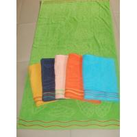 China 100%cotton terry jacquard towel blanket on sale