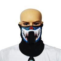 Best 2018  sound activated  LED/EL mask for festival Parties A scary light up Cosplay el Costume Mask supply for dance party wholesale
