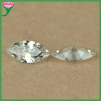 Best wholesale AAA 5*10mm white marquise diamond cut loose cz gemstone for jewelry wholesale