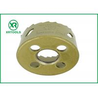 Best Gold Round Bi Metal Hole Saw , HSS M42 Carbide Tipped Hole Saw With Built wholesale
