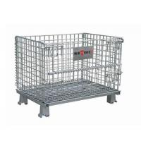 Best Collapsible Metal Mesh Containers Mobile Wire Mesh Stillage Wheels Optional wholesale