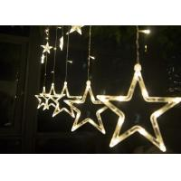 Best 2M LED Curtain Lights , 110v 220 Volt Christmas Star Curtain Lights wholesale