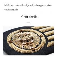 Indian silk handmade patch crafts animal dragonfly army cap badge uniform embrodiery OEM