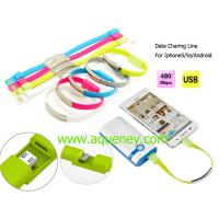 China High Quality Wristband Micro USB Data Cable with 5 colors can be choosed on sale