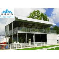 China Double Decker Outdoor Exhibition Tent Cube Structure With Glass Door on sale