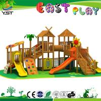 Best Anti UV Children'S Wooden Playground Sets YST140704 For 3 - 15 Years Old wholesale