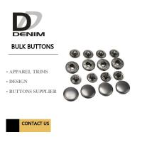 Best Anti Black Silver Clothing Snap Buttons , Bulk Replacement Snap Buttons Custom wholesale