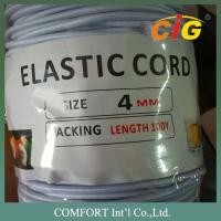 Best Garments Accessories 3mm , 4mm Thickness White And Black Elastic Tape For Package Tire wholesale