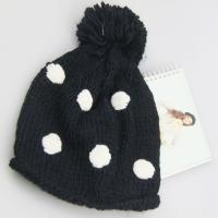 Best pom pom hat knitted pattern beanie knitted hat fahion winter ladies' hat wholesale