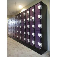 Best Purple / Orange School Lockers , Anti UV Aging Coin Collect Lockers 5 Tier wholesale