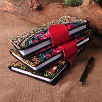 Best Customize Embroidered Logo Notebooks with leather snap closure as best souvenir gift wholesale