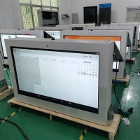 Best AC240V 5ms Wall Mounted Lcd Kiosk FCC Capacitive Touch Screen wholesale