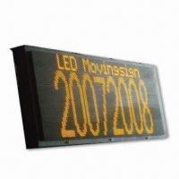 China 40 x 112 Pixels 5 Lines Electronic Sign Outdoor LED Display on sale