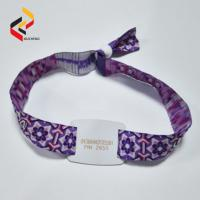 Buy cheap Adjustable NTAG213 Fabric Wristband Woven Wristband NFC Bracelet from wholesalers