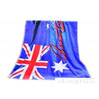 "Best 30""*60"" Velour Custom Printed Beach Towels With Australian Flag wholesale"
