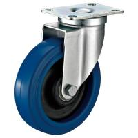 China Medium Duty Industrial Caster Wheels With Swivel Plate 100Kg Loading Capacity on sale