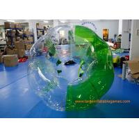 Buy cheap Soft Handle / Safe Belt Inflatable Green half-color bumper ball  with SGS CE Certification from wholesalers