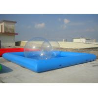 Best Movable Rectangle Inflatable Pool , Inflatable Above Ground Pools Easy Installation wholesale