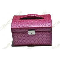 Best Custom Pink Pu Leather Jewelry Boxes, Fashion Jewelry Cardboard Gift Boxes wholesale