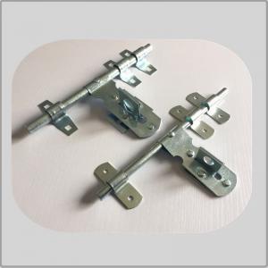 China Nickel Plated Lockable Door Bolt , External Door Latch  White Zinc Surface Polish on sale