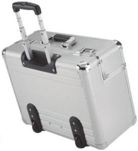 Best 4 Wheels Aluminium Trolley Case , Large Aluminum Tool Box 450X330X150mm wholesale