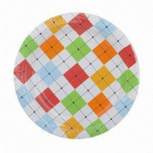 Best Disposable eco-friendly dinnerware paper plate set/paper cup wholesale