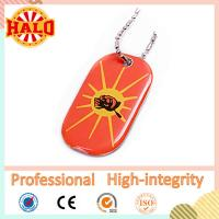 Best colorful print metal dog tag with epoxy stickers fashion dog id tag wholesale