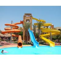 Best Adults Aqua Park Equipment , Fiber Glass Super Bowl Water Slide wholesale
