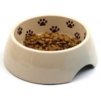 Best Paw Printed Outside Dog Food Bowl , A5 Melamine Middle Size Dog And Cat Bowls wholesale