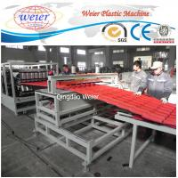 China Polycarbonate Corrugated Roof Sheeting Machine Plastic Extrusion Line Width 1000mm on sale